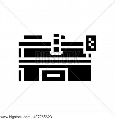 Plasma Apparatus Glyph Icon Vector. Plasma Apparatus Sign. Isolated Contour Symbol Black Illustratio