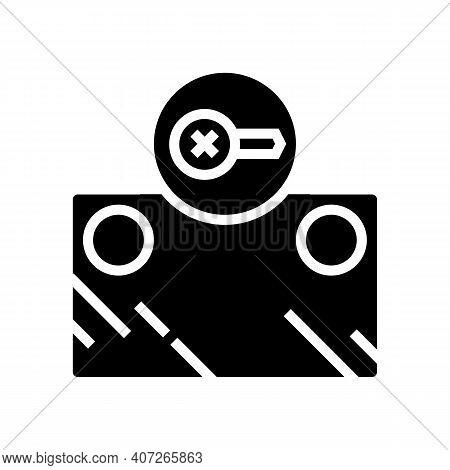Screw Instalation Mirror Glyph Icon Vector. Screw Instalation Mirror Sign. Isolated Contour Symbol B