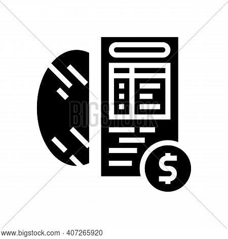 Cost Calculation, Mirror Price Glyph Icon Vector. Cost Calculation, Mirror Price Sign. Isolated Cont