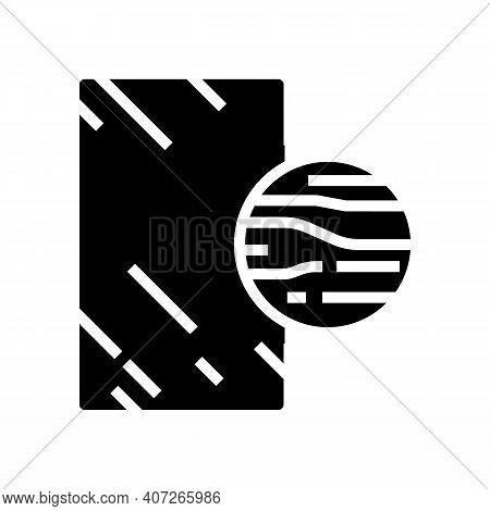 Graphite Mirror Glyph Icon Vector. Graphite Mirror Sign. Isolated Contour Symbol Black Illustration