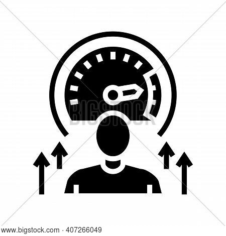 Growth Mindset Soft Skill Glyph Icon Vector. Growth Mindset Soft Skill Sign. Isolated Contour Symbol