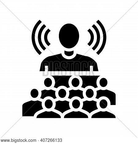 Leadership Soft Skill Glyph Icon Vector. Leadership Soft Skill Sign. Isolated Contour Symbol Black I