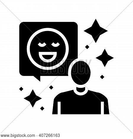 Positive Attitude Soft Skill Glyph Icon Vector. Positive Attitude Soft Skill Sign. Isolated Contour