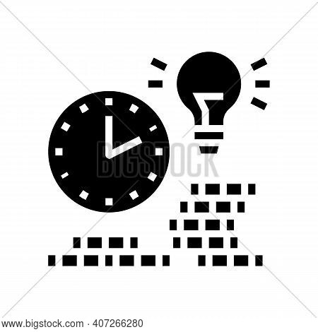 Earning Money Time Glyph Icon Vector. Earning Money Time Sign. Isolated Contour Symbol Black Illustr