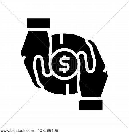 Investor Money Glyph Icon Vector. Investor Money Sign. Isolated Contour Symbol Black Illustration