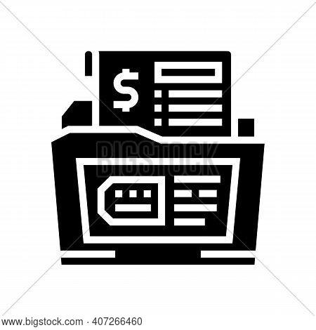 Dossier Allowance Glyph Icon Vector. Dossier Allowance Sign. Isolated Contour Symbol Black Illustrat