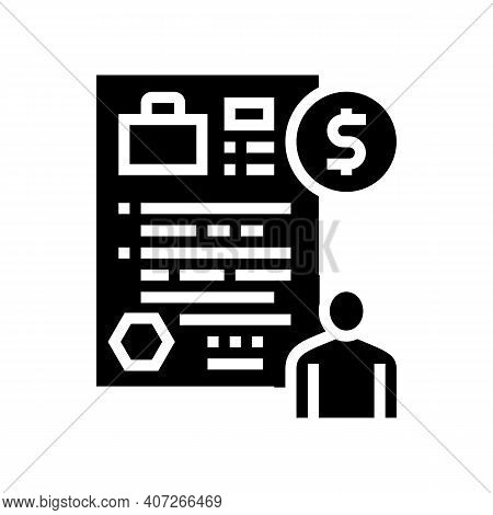 Unemployment Benefit Allowance Glyph Icon Vector. Unemployment Benefit Allowance Sign. Isolated Cont
