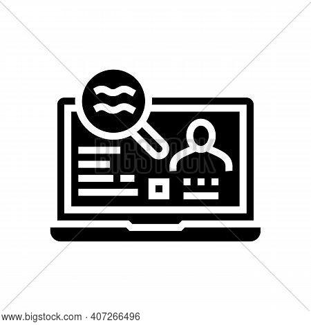Checking Status Allowance Glyph Icon Vector. Checking Status Allowance Sign. Isolated Contour Symbol