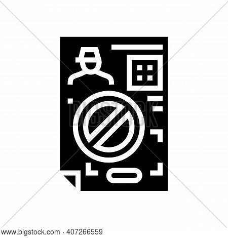 Denial Allowance Glyph Icon Vector. Denial Allowance Sign. Isolated Contour Symbol Black Illustratio