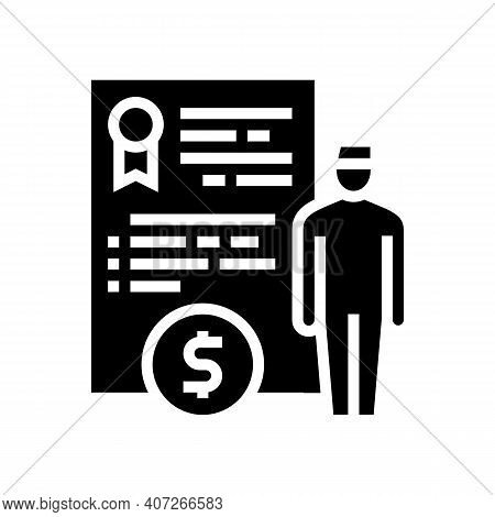 Military Personnel Allowance Glyph Icon Vector. Military Personnel Allowance Sign. Isolated Contour