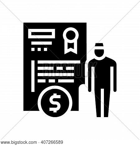 Pension Allowance Glyph Icon Vector. Pension Allowance Sign. Isolated Contour Symbol Black Illustrat