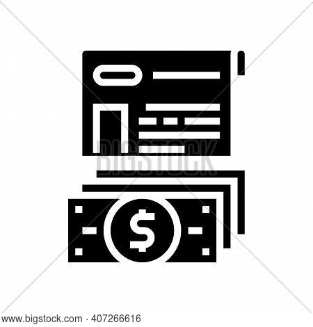 Issue Of Allowance Glyph Icon Vector. Issue Of Allowance Sign. Isolated Contour Symbol Black Illustr