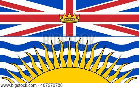 Official Large Flat Flag Of British Columbia Horizontal
