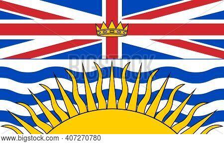 Official Large Flat Flag Of British Columbia Horizontal