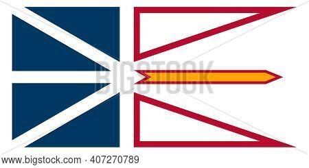 Official Large Flat Flag Of Newfoundland And Labrador Horizontal