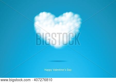 Heart Shaped Clouds In The Sky For Posters, Brochures, Banners And Valentine's Day Cards.
