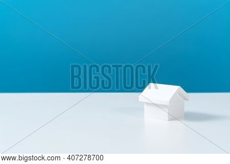 One 3d White House Model For Dream Home, Real Estate Property Or Housing Development