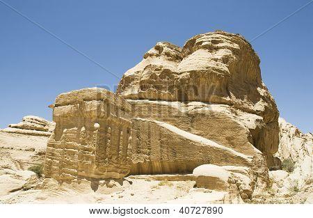 Ancient Rock Formation In Jordan