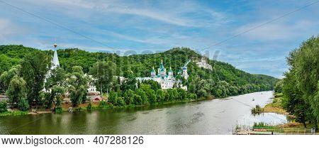 Seversky Donets River Near The Svyatogorsk Lavra In Ukraine