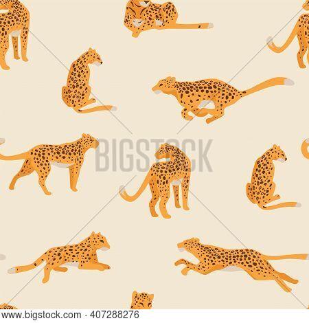 Leopard Animal, Cheetah Still, In Motion Pattern