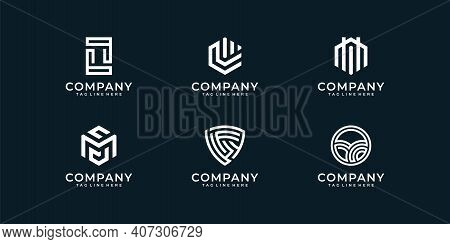 Abstract Logo Design Collection Set  Illustration Vector Graphics