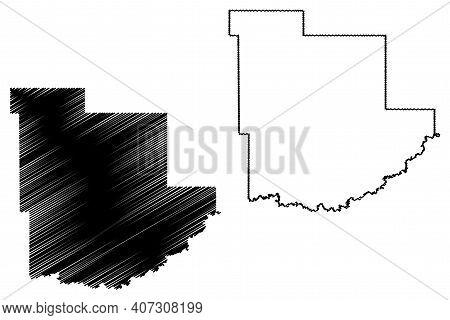 Grant County, North Dakota State (u.s. County, United States Of America, Usa, U.s., Us) Map Vector I