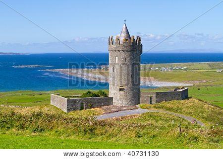 Doonagore castle near Doolin in Ireland