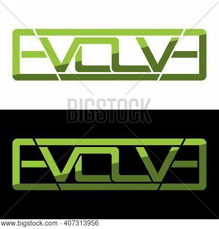 Creative, Simple And Elegant Initial Letter Evolve Logo Template In Flat Design Monogram Illustratio