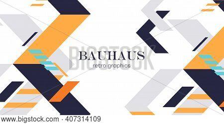 Abstract Geometric Background. Bauhaus , Minimalist Retro Poster Graphics Vector Illustration.