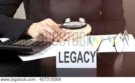 Close Up Business Woman Using Calculator And Charts Do Math Finance On Wooden Desk On Office And Bus