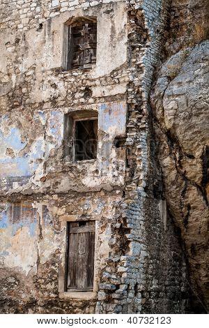alte Wände in Kroatien.