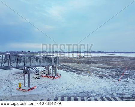 Khrabrovo International Airport. Kaliningrad, Russia