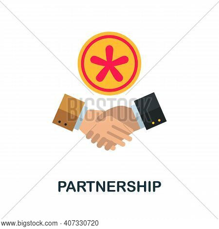 Partnership Flat Icon. Color Simple Element From Customer Loyalty Collection. Creative Partnership I