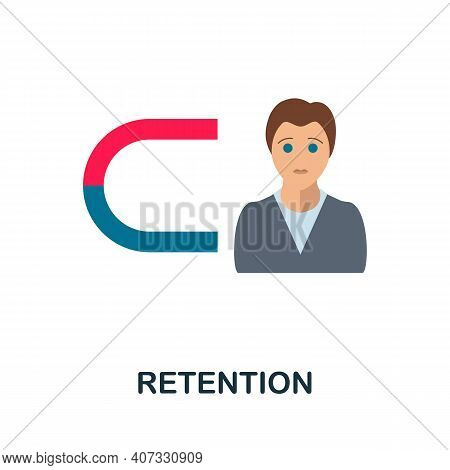 Retention Flat Icon. Color Simple Element From Customer Loyalty Collection. Creative Retention Icon