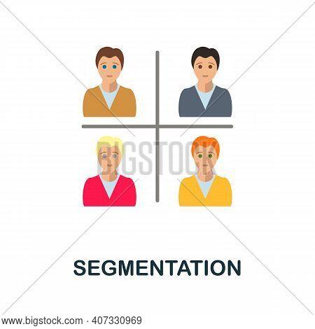 Segmentation Flat Icon. Color Simple Element From Customer Loyalty Collection. Creative Segmentation