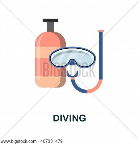 Diving Flat Icon. Color Simple Element From Diving Collection. Creative Diving Icon For Web Design,
