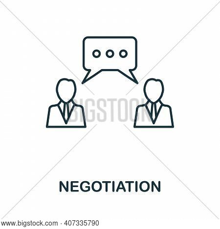 Negotiation Icon. Simple Element From Business Management Collection. Creative Negotiation Icon For