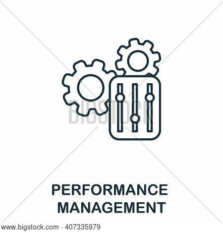 Performance Management Icon. Simple Element From Business Management Collection. Creative Performanc