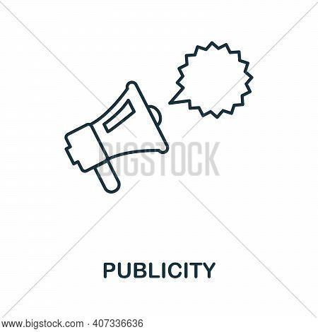 Publicity Icon. Simple Element From Business Management Collection. Creative Publicity Icon For Web