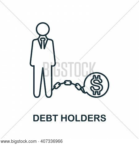 Debt Holders Icon. Simple Element From Business Management Collection. Creative Debt Holders Icon Fo