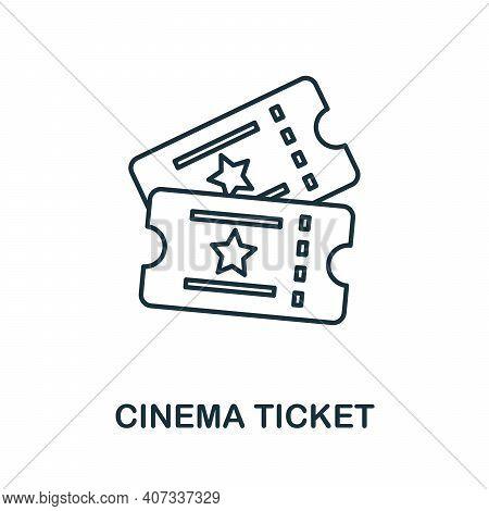 Cinema Ticket Icon. Simple Element From Cinema Collection. Creative Cinema Ticket Icon For Web Desig