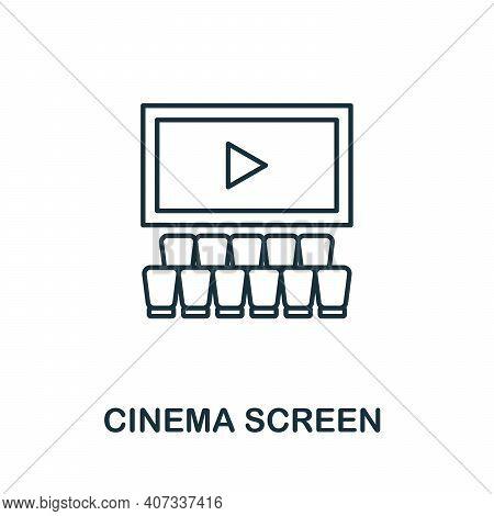 Cinema Screen Icon. Simple Element From Cinema Collection. Creative Cinema Screen Icon For Web Desig