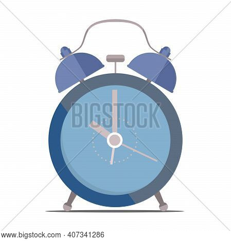 Classic Alarm Clock Isolated On White Background Vector Illustration