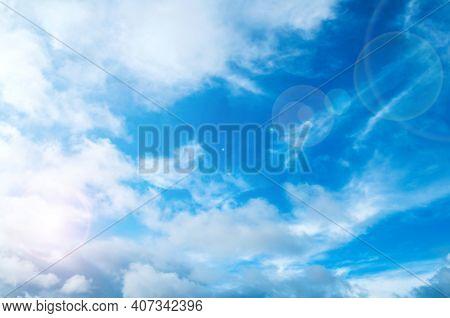 Dramatic blue sky background, vast sky landscape panoramic scene, blue sky background.Sky landscape. Sky background. Dramatic blue sky background, vast sky landscape panoramic scene, sunny sky landscape view
