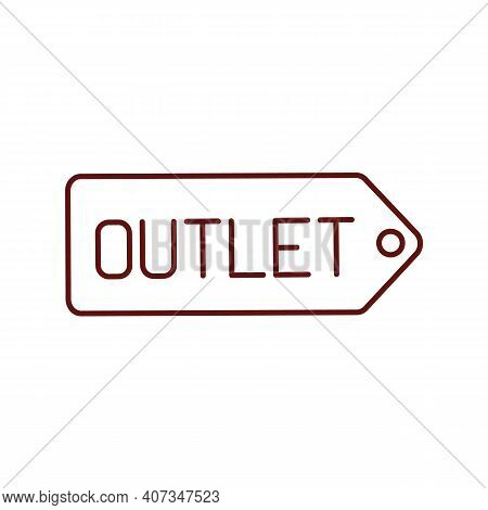 Outlet Store Rgb Color Icon. Clothing Shop. Manufacture Prices For Clothes. Bargain Prices For Produ