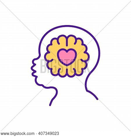 Child Emotional Intelligence Rgb Color Icon. Smart Baby. Infant Thinking. Developing Empathy, Mental