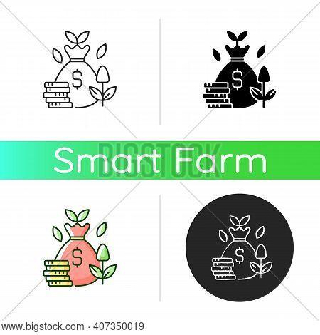 Cost Efficiency Icon. Maximum Profitability. Smart Harvest. Farm Productivity. Digital Agrotechnolog