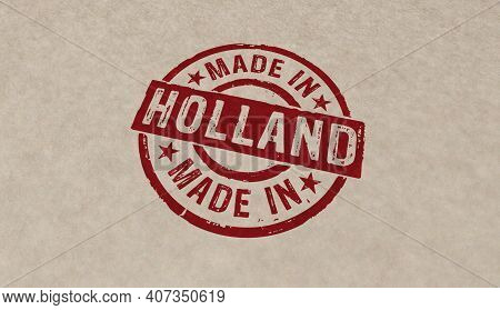 Made In Holland Stamp And Stamping