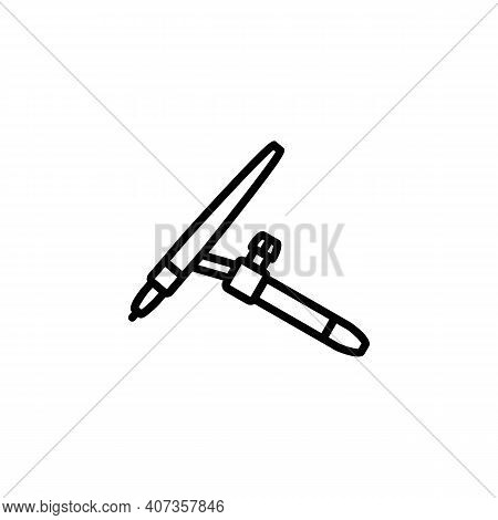 Argon Welding Holder. Vector Sign In A Simple Style Isolated On A White Background