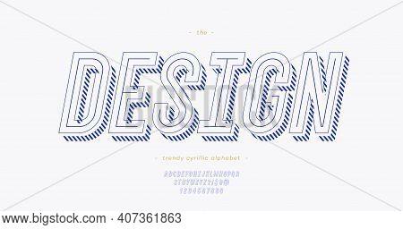 Vector Design Modern Typeface 3d Bold Slanted Style. Cool Original Alhabet. Font Trend Typography Fo